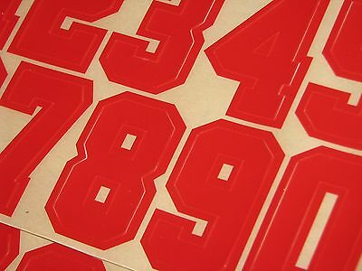 NEW ENGLAND PATRIOTS 1960 Football Helmet Number Decals Qty (2) #0-9 3M 20MIL New England Patriots Number