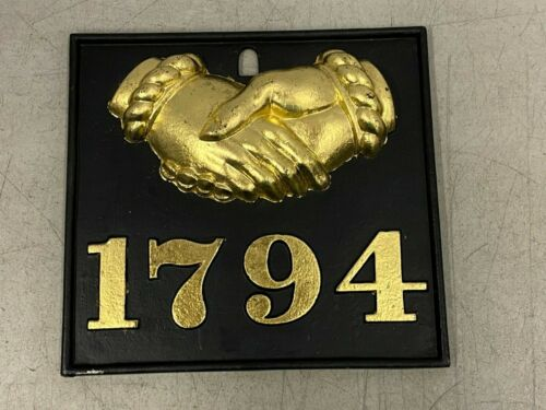 Vtg 1794 Cast Aluminum Plaque Fire Mark Baltimore MD Equitable Society Insurance