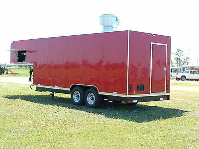 2019 8 X 28 Gooseneck Mobile Kitchen Concession Trailer