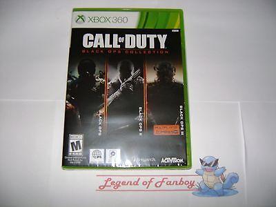 * New * Call of Duty: Black Ops Chrestomathy - Xbox 360  Trilogy I II III 1 2 3