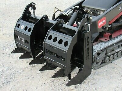 48 Dual Cylinder Root Rake Clam Grapple Attachment Fits Toro Dingo Ditch Witch