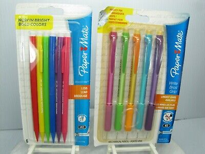 Papermate Mechaical Pencil Set 0.7 Mm Lot Of 2 Packages 11 Pencils Total