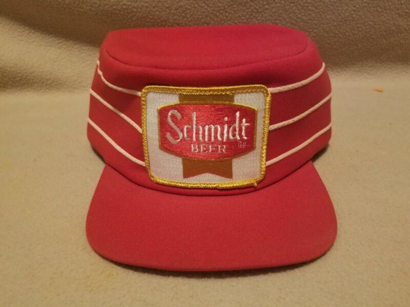 RARE VINTAGE SCHMIDT BEER SNAPBACK HAT Cap patch 1970s