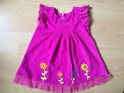 Rüschen Blumen, pink, Fest Gr. 74-80, 1-1-5 Jahre Handarbeit (Rüschen Blumenmädchen Kleid)