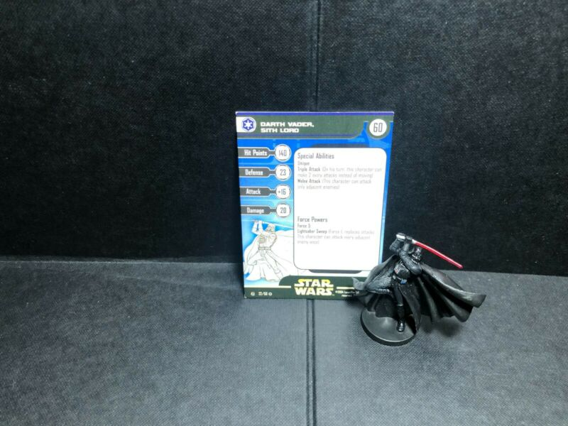 Star Wars Miniatures Darth Vader, Sith Lord RS w/ Card mini RPG Legion Assault
