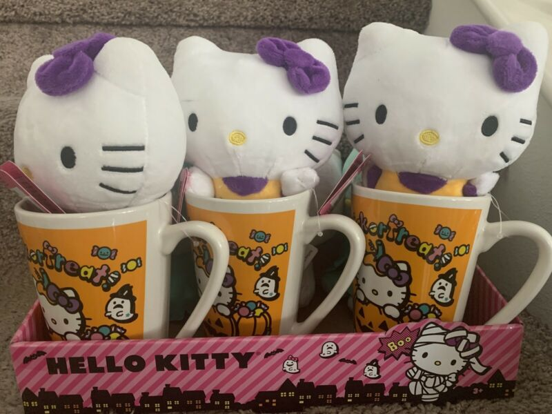 HELLO KITTY MUG WITH PLUSH SET HALLOWEEN