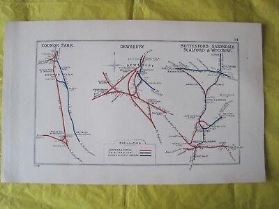 1928 RAILWAY CLEARING HOUSE Junc Diagram No.54 CODNOR PARK/DEWSBURY/BOTTESFORD.