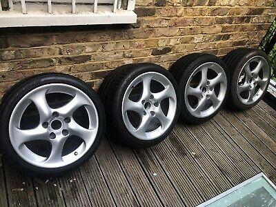 "Porsche Turbo Twist Style 18"" C4S alloy wheels 911 986 993 996 Carrera"