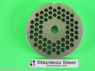 22 X 14 Meat Grinder Plate Stainless Steel Fits Hobart Tor-rey Lem More