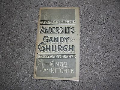 Vanderbilt's Candy Church Booklet, Cookbook/Recipes