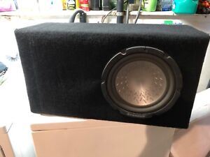 """10"""" Pioneer sub and 350w Kenwood amplifier in box"""