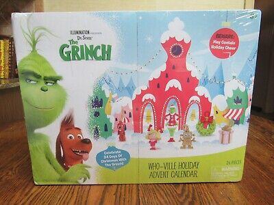 Dr. Seuss The Grinch Who-ville Holiday Advent Calendar Illumination New