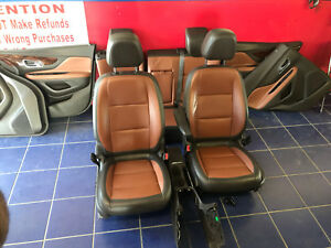 2013 2014 BUICK ENCORE FRONT REAR LEATHER BUCKET SEATS INTERIOR BROWN