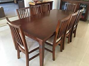 As new solid timber dinning table with 8 chairs Bulleen Manningham Area Preview