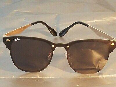 Ray Ban RB3576 Blaze Clubmaster Sunglasses 47MM Gold Frame/Black Gradient Lens