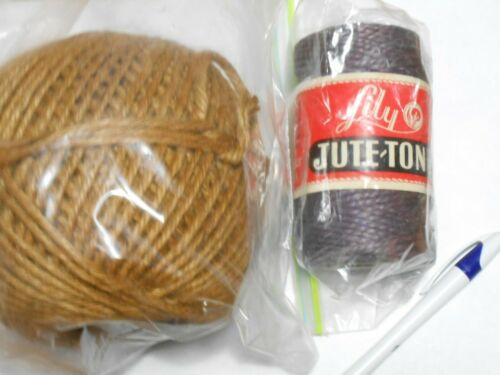 Jute cord cord, for macrame projects or weaving, tan, lavender