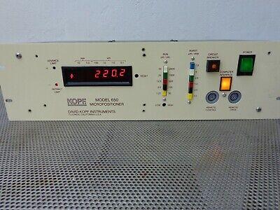 David Kopf Instruments 650c 650 Micropositioner 10-1.0mm 100-0.1um Controller