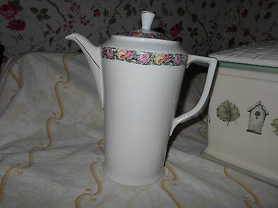 Antique Bavarian Porcelain Cocoa Pot~ Tall Chocolate or Tea Pot Server~Victorian