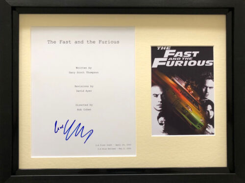 Michelle Rodriguez signed Fast script framed with poster AFTAL & UACC [15496]