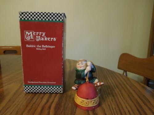 "Dept 56 Merry Makers Baldric the Bellringer Riding Bell ornament 3"" #9368-8"