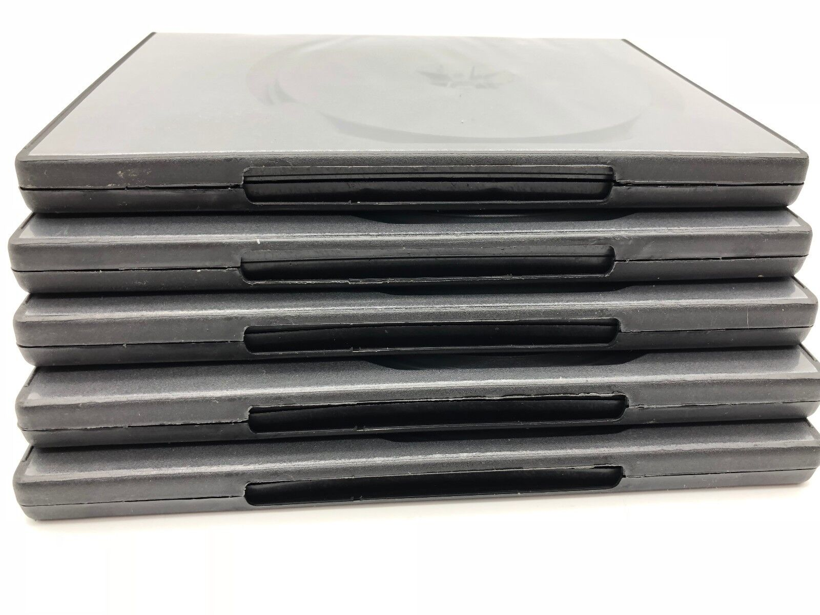 5 DOUBLE DVD, Blue Ray, Software, Game, Empty Cases, Black, Clear Cover, 14mm