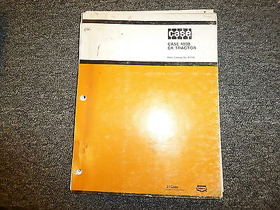 Case 480b Ck Tractor Front End Bucket Loader Parts Catalog Manual Book