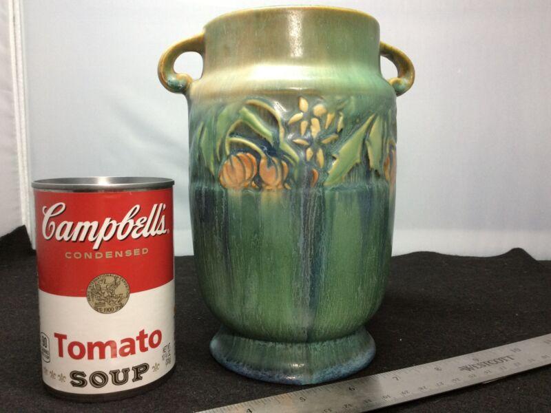 Vintage Roseville Pottery Green Baneda 592-7, 2-Handle Vase EUC