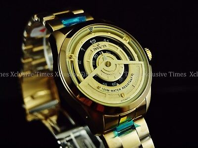 Invicta Men's 46mm S1 Rally TriDisc NH35 Auto All Gold Tone SS Bracelet Watch