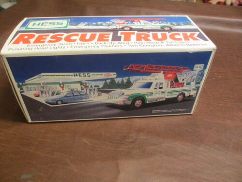 VINTAGE 1994 HESS GASOLINE TOY ADVERTISING PROMO RESCUE TRUCK MINT IN BOX MIB
