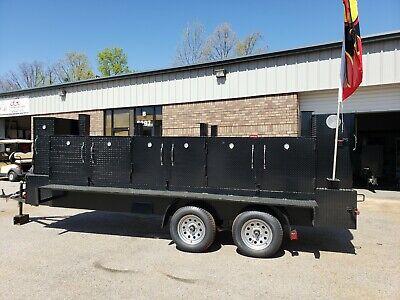 Iron Hog Bbq Barn Door Smoker 36 Inch Grill Trailer Food Truck Business Catering