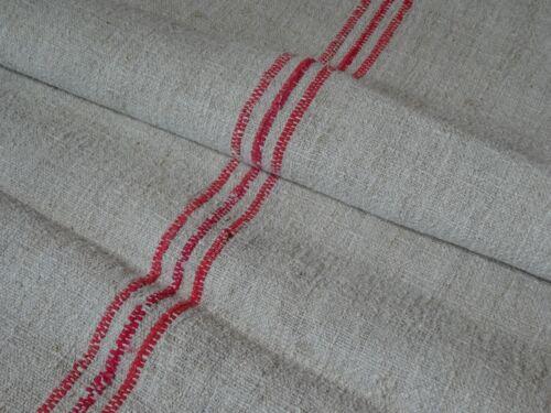 Antique European Feed Sack GRAIN SACK Red Stripe # 10224