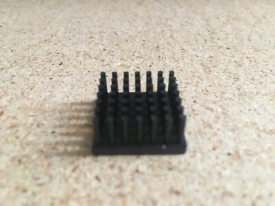 Bga Aluminum Thermal Heat Sink 21x21x10mm Round Fins - Black Anodized