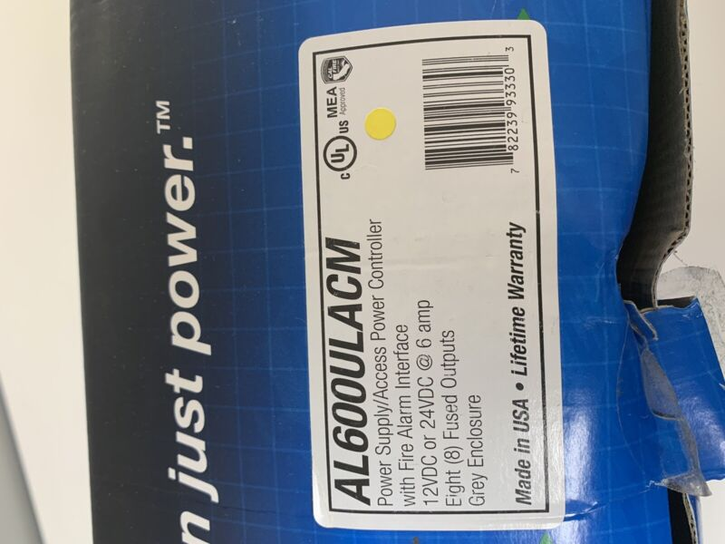 Altronix AL600ULACM Power Controller with Power Supply 12VDC/24VDC