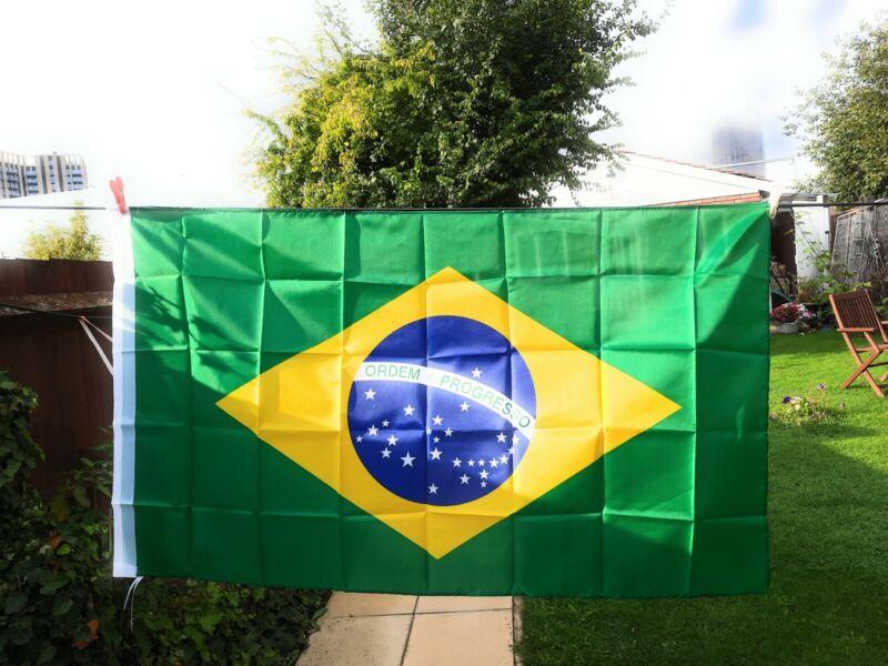 BRAZILIAN ( BRAZIL ) FLAG 5ft X 3ft