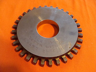 Illinite Gear Cutter Disc Shaper Finishing Non Topping 8 Dp 14.5 Pa 32 T 1.25 B
