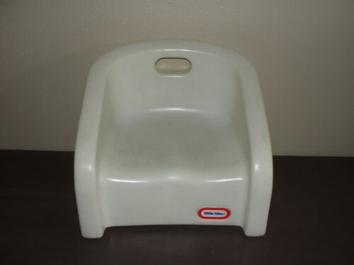 Vintage Little Tikes Childs Booster Seat Toddler Chair With Handle White