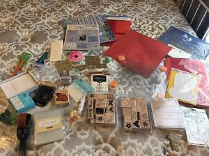 Lot of Scrapbooking and Card Making materials and tools
