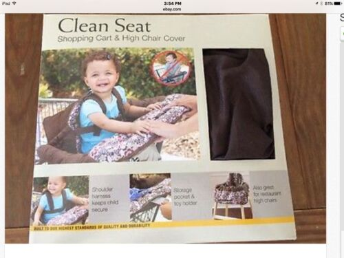 Eddie Bauer Shopping Cart High Chair Cover Clean Seat 76