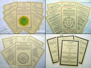 52 WITCHCRAFT SPELLS book of shadows page set wicca parchment spell money love