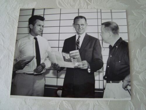 """Vintage Frontier Airlines Photo """"Bud"""" Maytag President (1959) Aviation"""