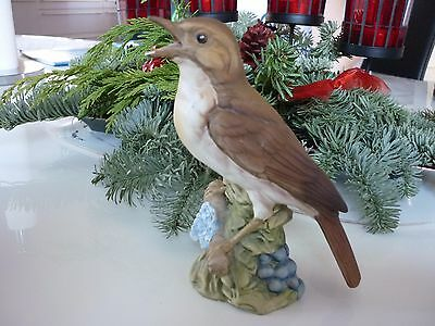Nachtigall Vogel des Jahres 1995 v. Goebel große Ausführung Porzellan Figur