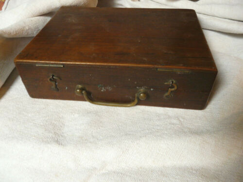 Antique French walnut Artist travel Box With Contents