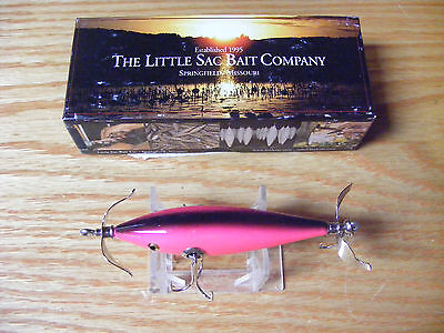 Little Sac Bait Co Niangua Minnow Glasseye Lure in Hot Pink Color NIB