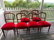 Antique velvet dining chairs - 6 Kurrajong Hawkesbury Area Preview