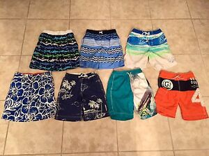 7 Pair of Swimming trunks size 10/12