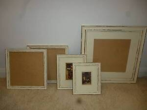 White 'shabby chic' picture frames Mount Annan Camden Area Preview