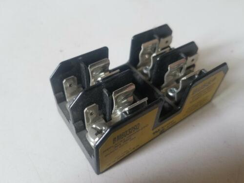 New Bussmann Fuse Block, 30 amp 600 volt, Fuse Holder, BM6032SQ