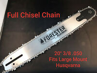 "1100 66 288 20/"" Bar /& Chain Set 281 Husqvarna 61 272 266 2100 Chainsaw"