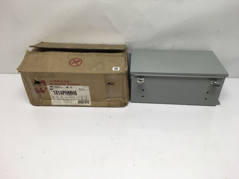 NEW Hammond 1414PHMH6 Type 12 Steel Electrical Enclosure/Junction Box 14 x 8 x 6