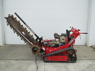 Barreto 1824-tk 20hp Gas Walk Behind Hydraulic Tracked Trencher W 48 Bar